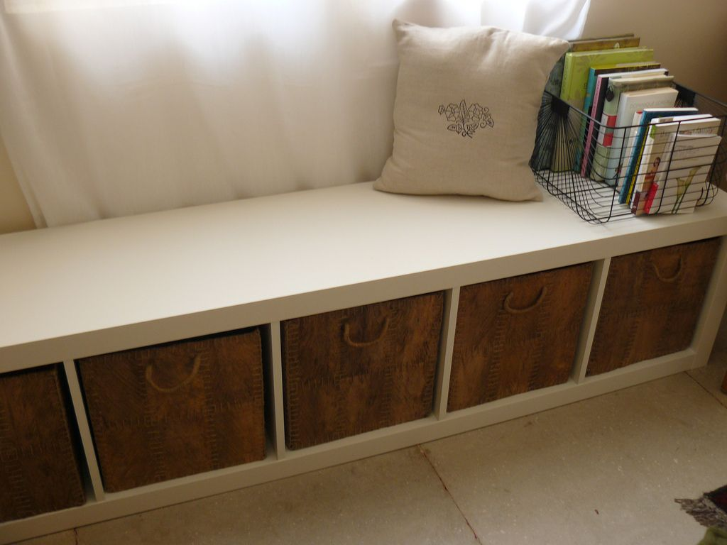EXPEDIT  from Ikea  can be used for practically anything  Including an  under window storage bench Would be great under main window in bonus room. storage   bench   Storage benches  Bench and Storage