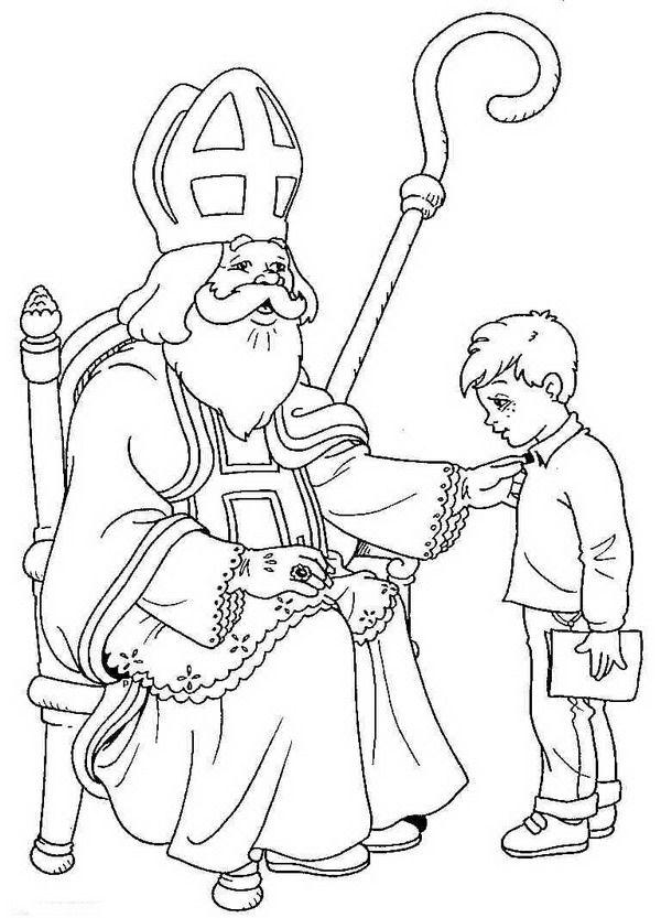 Coloring Page St Nicholas St Nicholas Swiety Mikolaj Kolorowanka