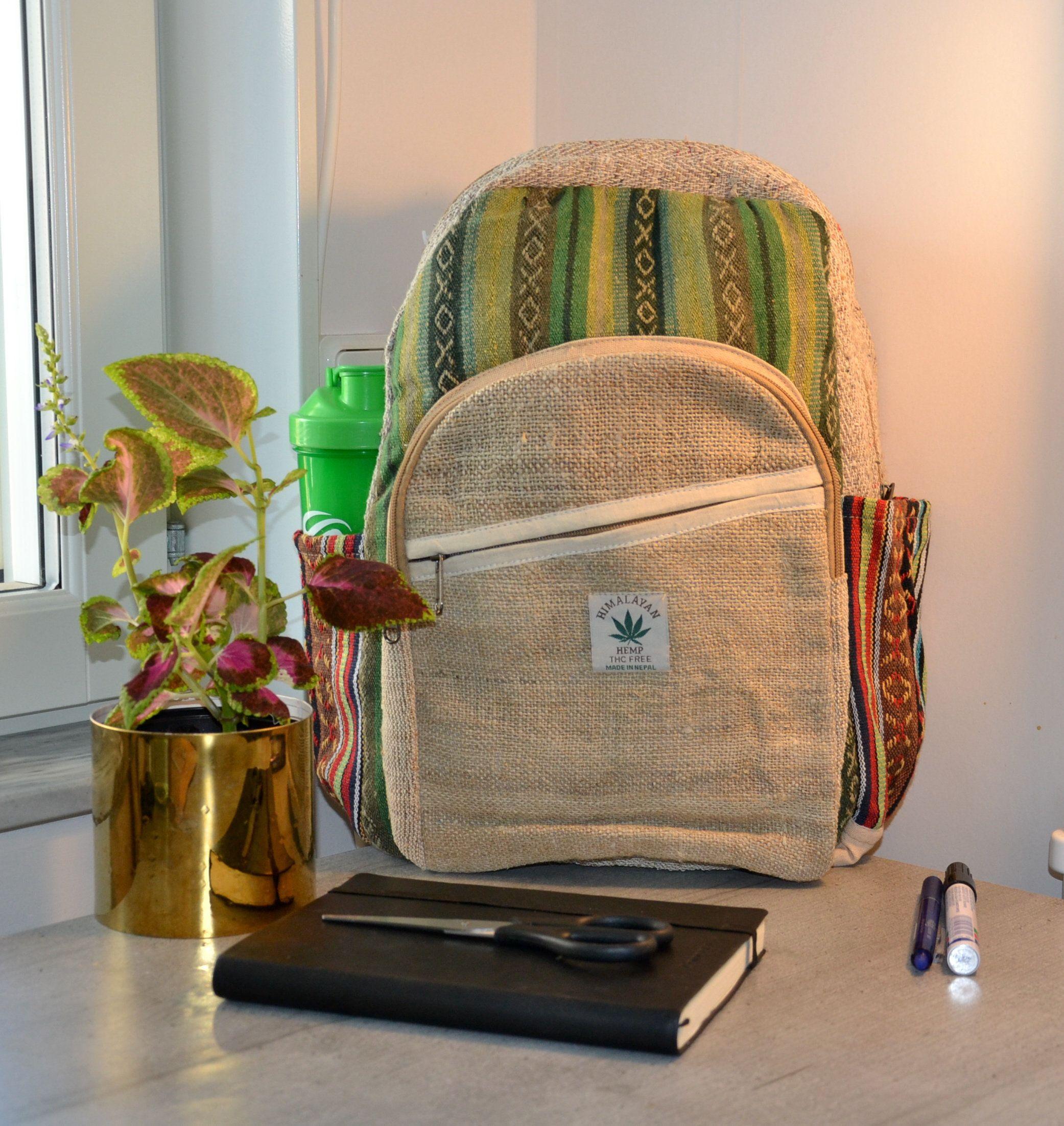 Eco Friendly Bag Vegan Hippie Bag Handmade Bag Hemp Backpack| Hemp Bag