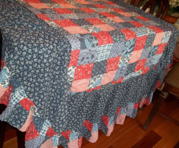 Bedspread Quilted Bedspread Vintage Quilted by SuzyQsVintageShop, $39.75