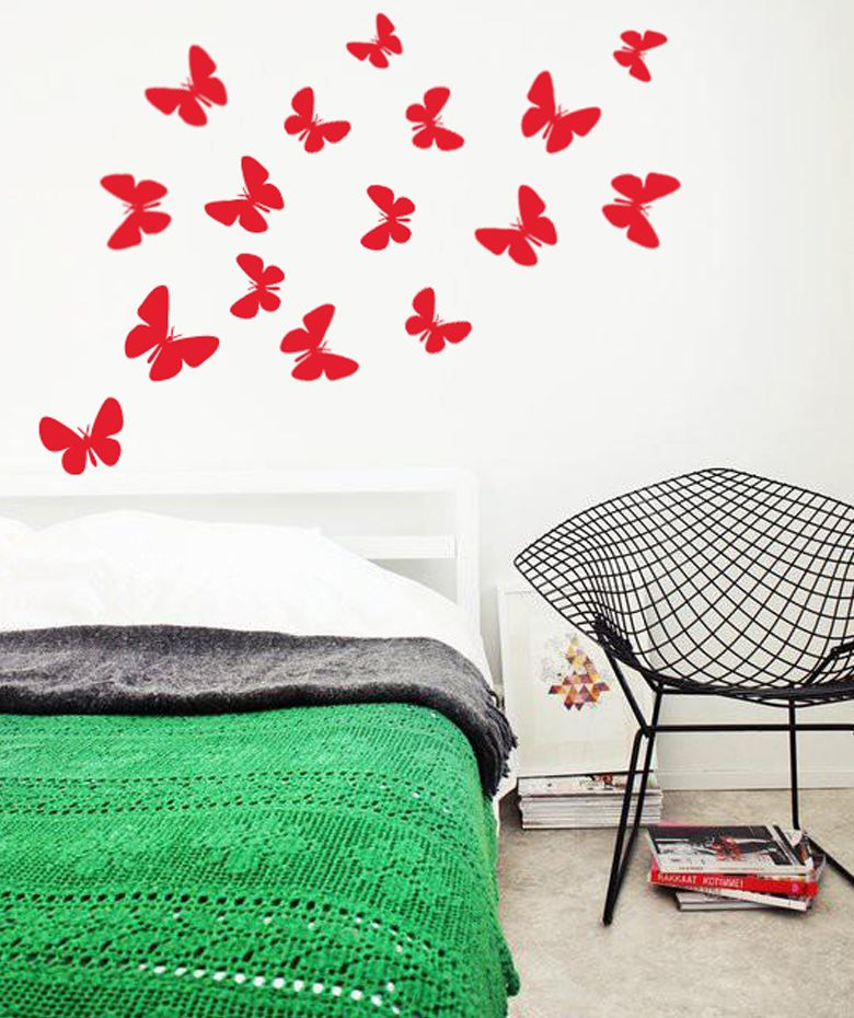 Mariposas vinilo adhesivo decoraci n de paredes 25 for Adhesivos decorativos pared