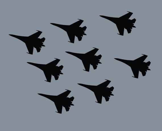 Boys Jet Room Fighter Jets Airplane Decal Vinyl Decal Military Wall Decal Boys Room Decals Wall Decals Military Decor