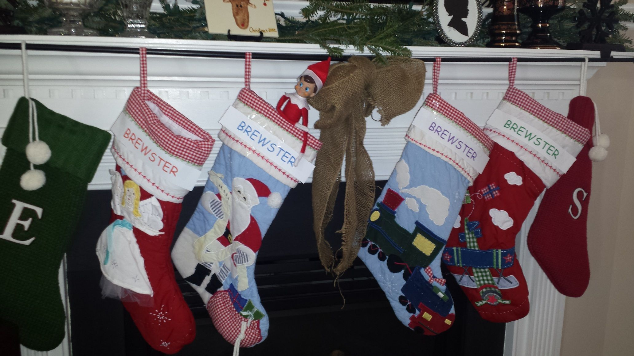 Change the names on the stockings to the elf's name