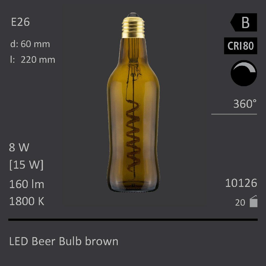 Lightbulb Lights Led Beer Bottle Light Bulb Brown Dimmable Usa Socket Have A