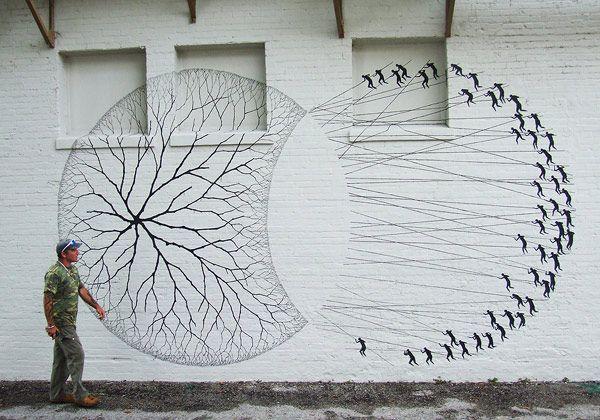 David De La Mano, street art painting