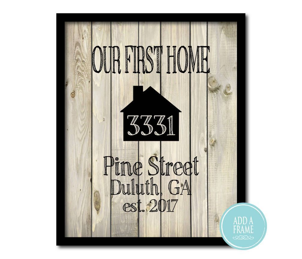 Customizable Wall Decor - Wall Art PRINT - Our first home Housewarming gift - Realtors thank you present - personalized wedding gift -  Excited to share the latest addition to my #etsy shop: Customizable Wall Decor – Wall Art PRINT � - #Art #bdaygiftsforher #bestgiftexchanges #customgifts #customizable #decor #first #Gift #giftsforhim #home #housewarming #personalized #present #print #realtorthankyougift #realtors #simplegiftforhim #sorrygifts #succulentgifts #thank #Wall #wedding
