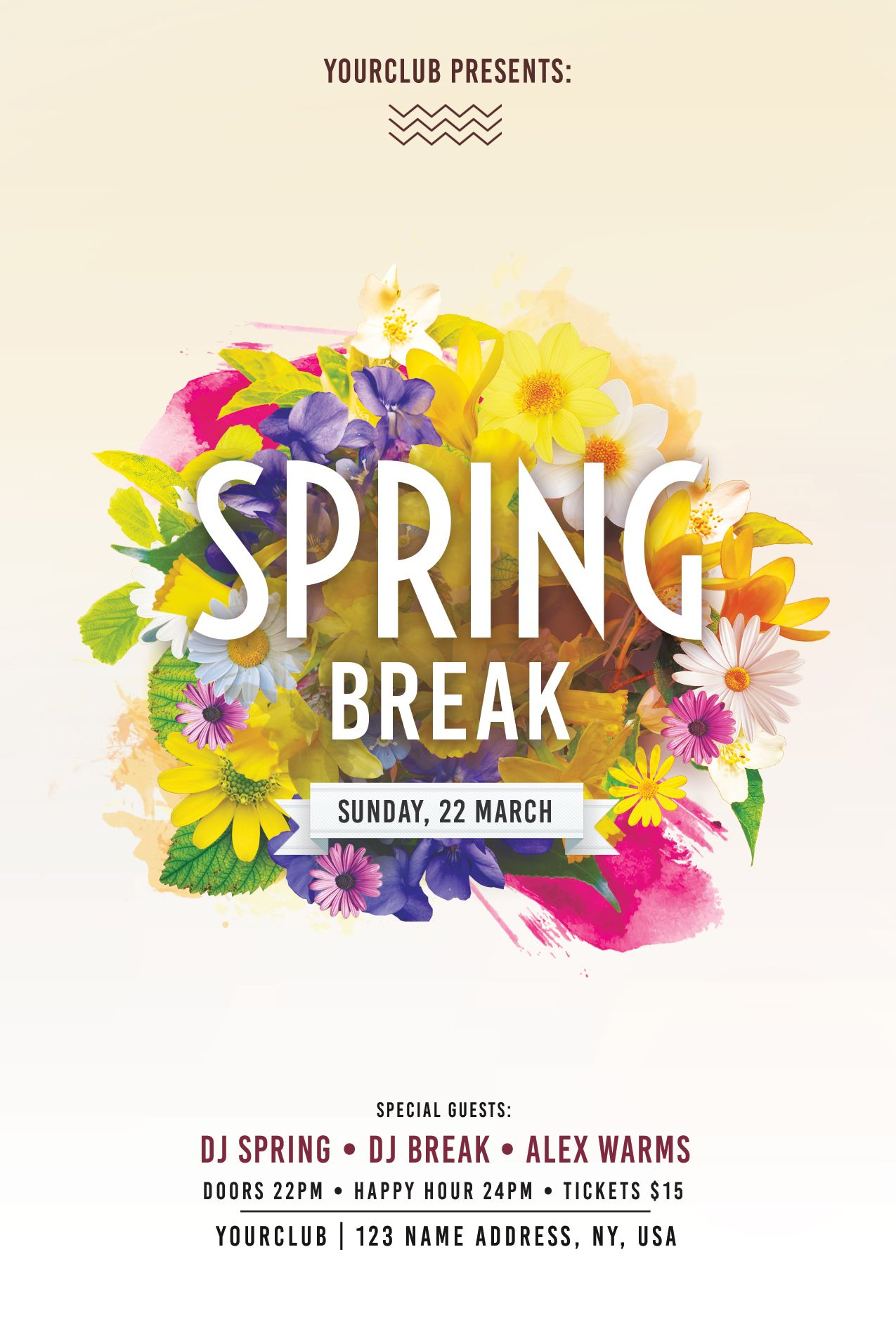 Download Spring Break PSD Flyer Template For Free This Is In