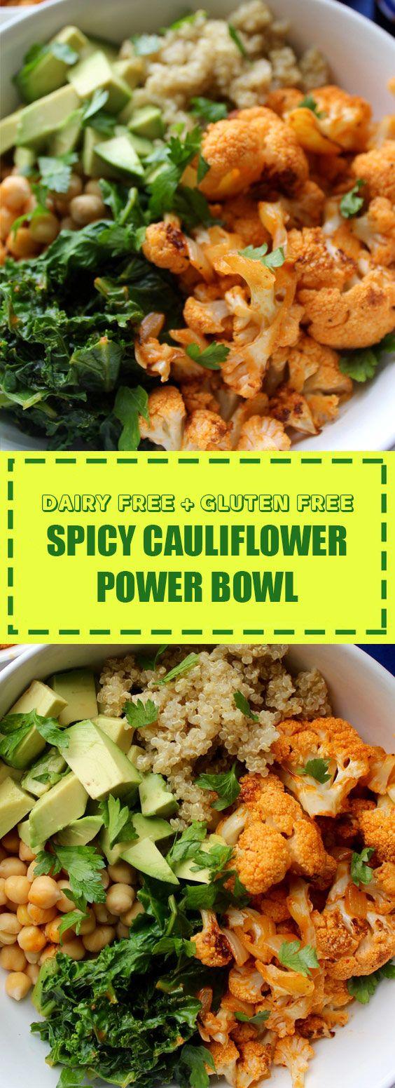 Spicy Cauliflower Power Bowl | This Spicy Cauliflower Power