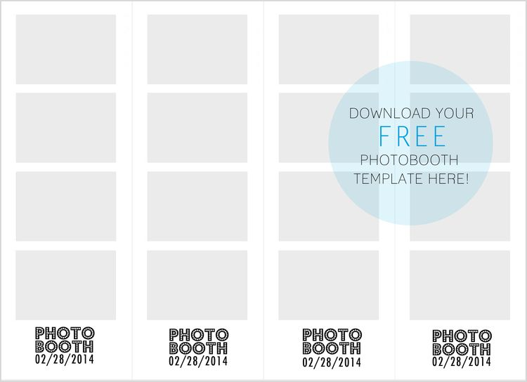 Free Download - Photobooth Strip Template www jleeblog com