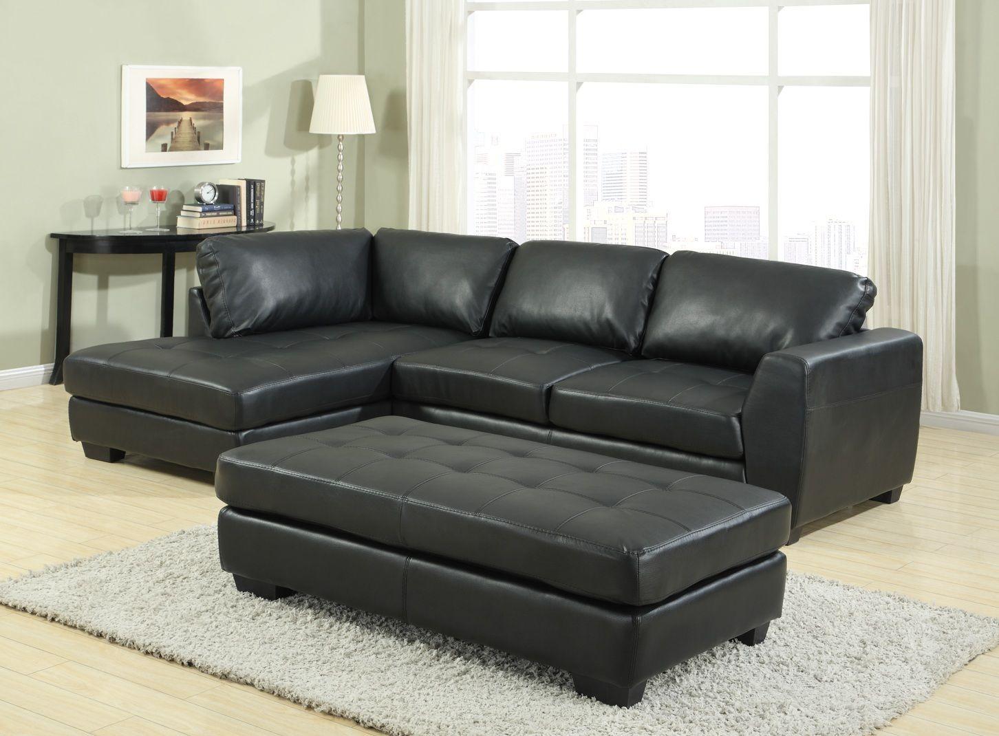 Miraculous Lunar Black Leather Corner Sofa Bed Sofa Foot Stool Cjindustries Chair Design For Home Cjindustriesco