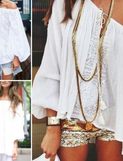 Shopping trends:White & off shoulders