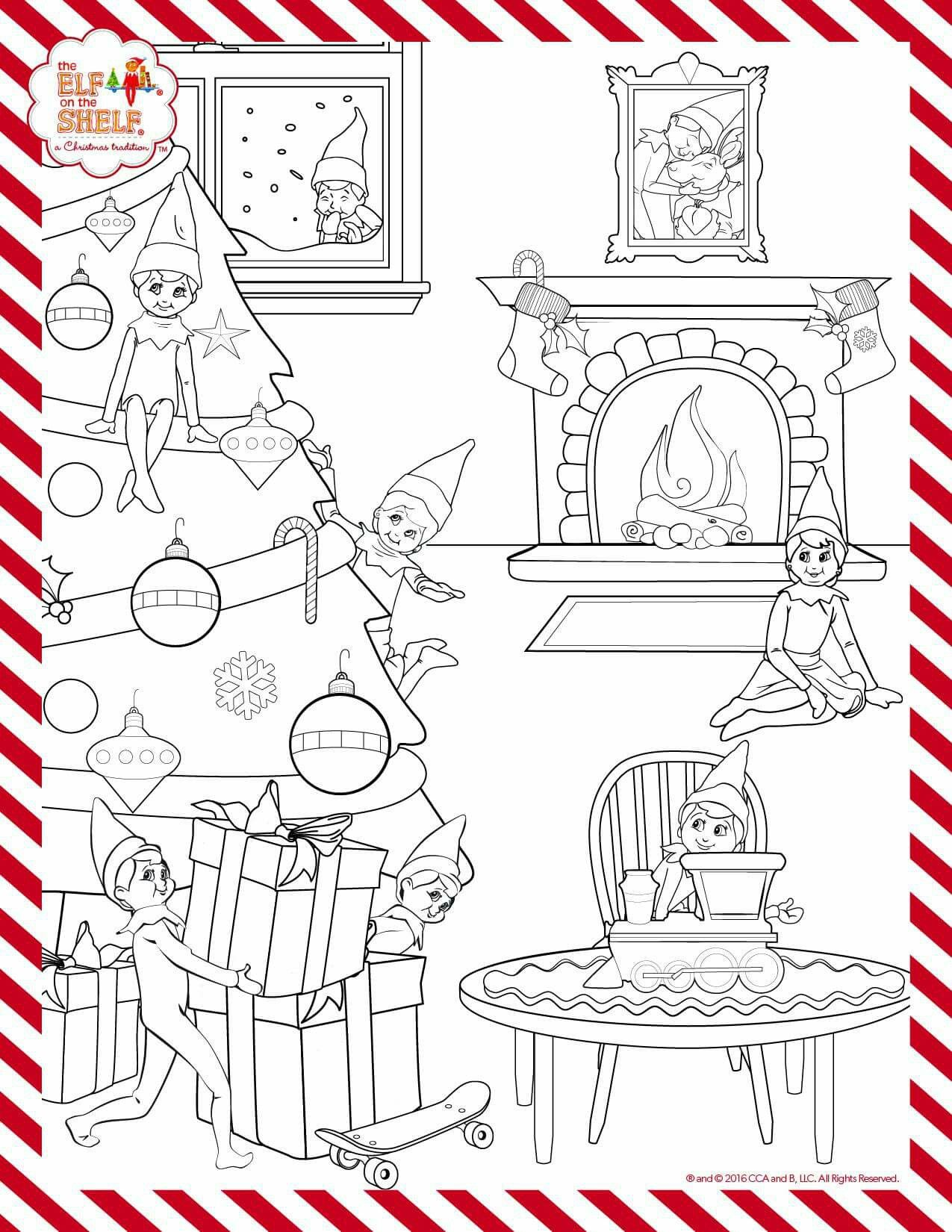 Elf On The Shelf Colouring Sheet Elf Activities Christmas Coloring Pages Christmas Elf