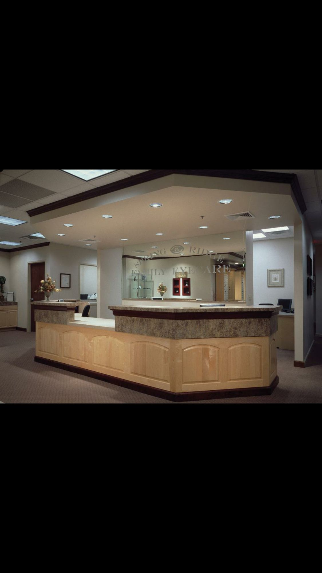 Front desk. House styles, Office design, Dental office