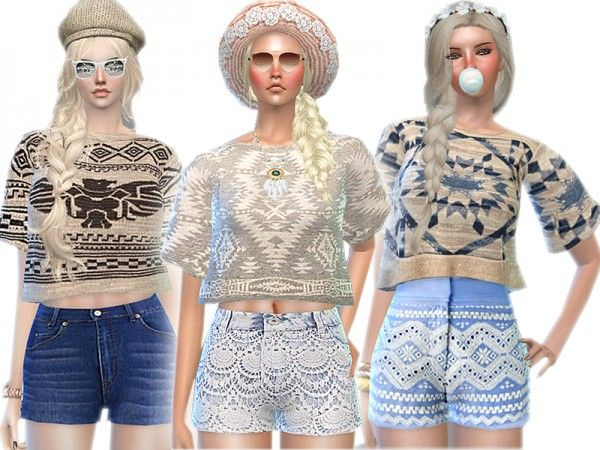 The Sims Resource: Aztec Print Winter Fantasy Set by