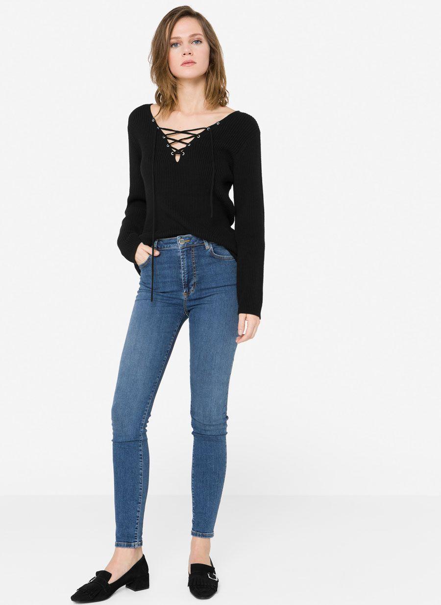 0d9aab69225 Jeans tiro alto   Moda   Pinterest   Jean taille haute, Taille haute ...