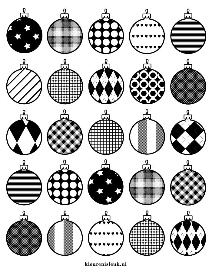 Kerstballen Inpakpapier Kleurplaat Kerst Kleurenisleuk Nl