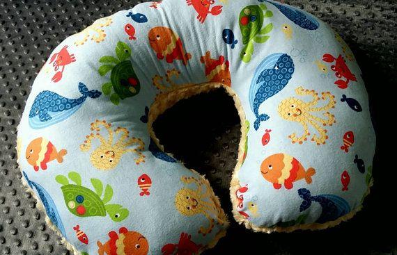 baby boys boppy pillow ocean theme nursing pillow sea