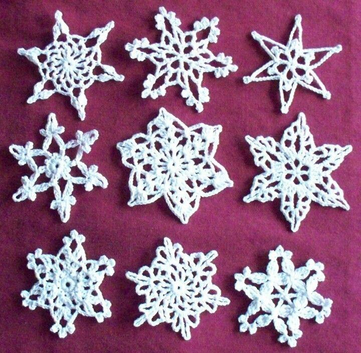 Snowflakes | Shit to Make | Pinterest | Muster blume, Stern häkeln ...