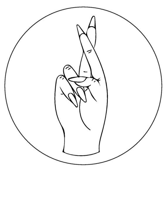 Fingers Crossed // hand embroidery pattern // beginner embroidery pattern // easy embroidery pattern