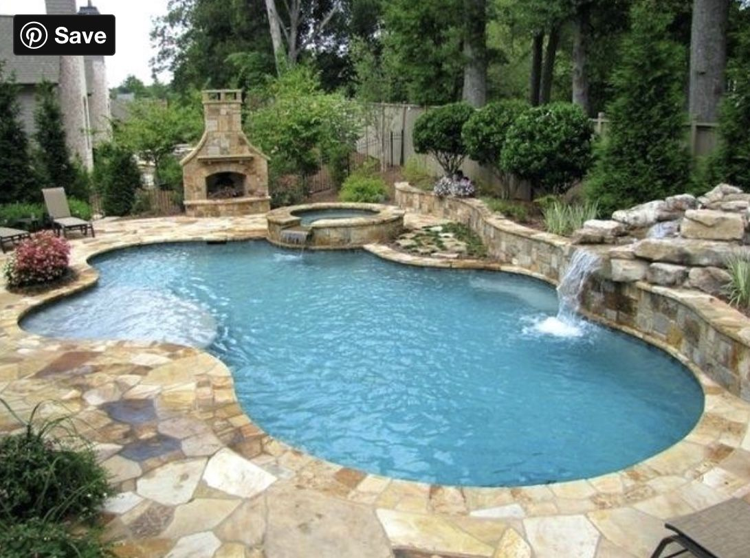 Pin By Kelly Messer On Rocky Knoll House In 2020 Beautiful Pools Backyard Inground Pool Designs Small Backyard Pools