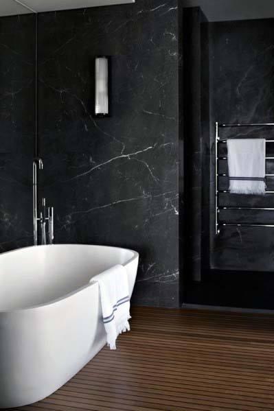 Top 60 Best Black Bathroom Ideas Dark Interior Designs Black