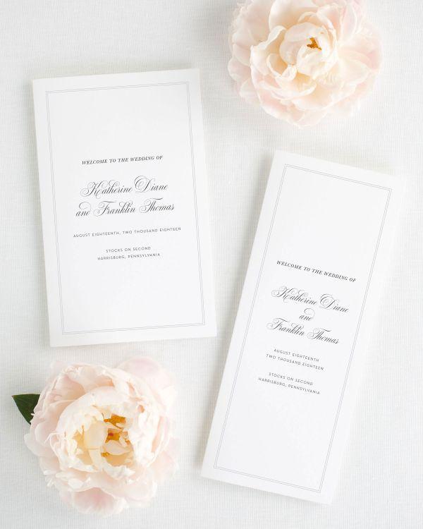 Simply Classic Ribbon Wedding Invitations