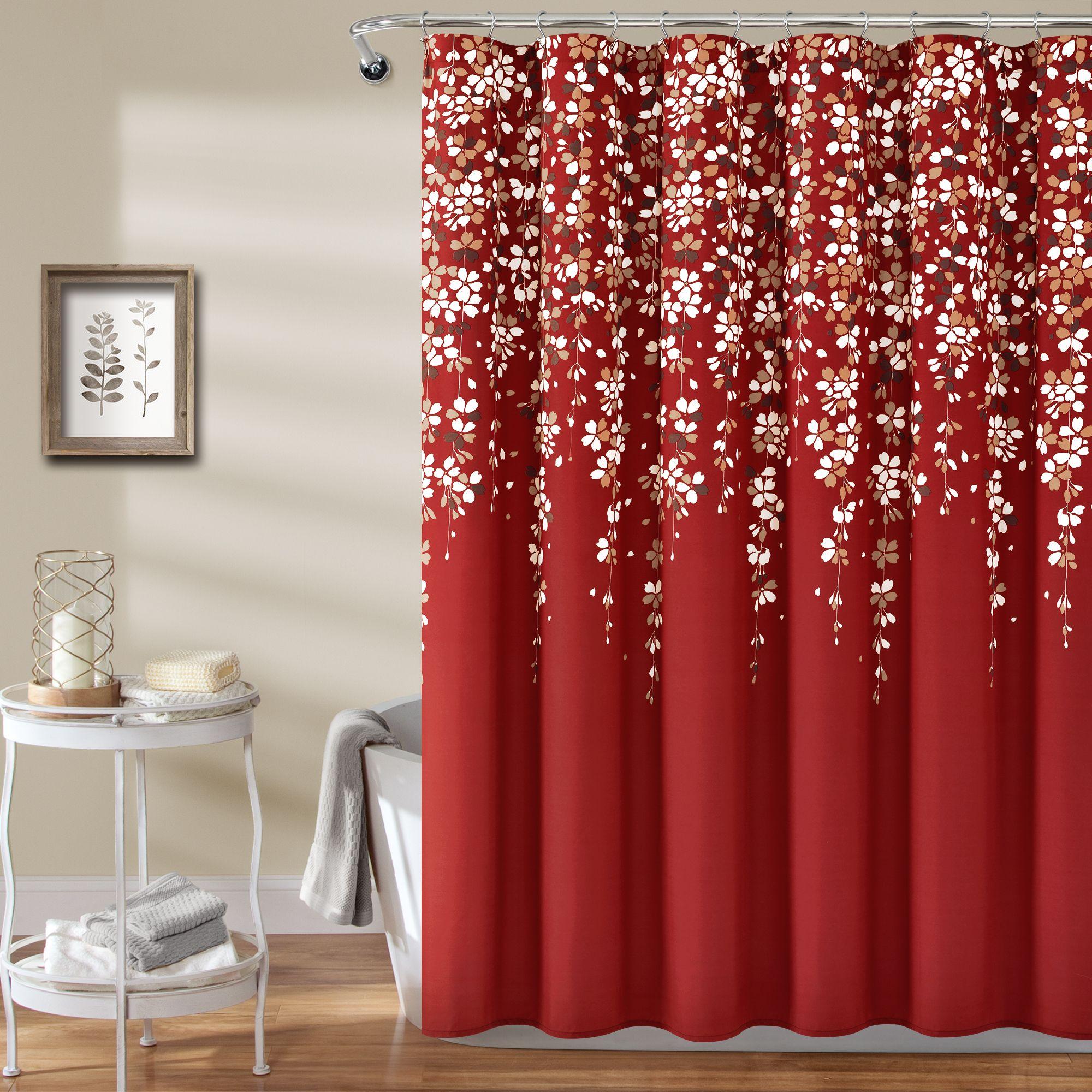 Weeping Flower Shower Curtain In 2020 Flower Shower Curtain