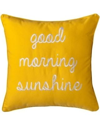 Good Morning Sunshine Decorative Pillow