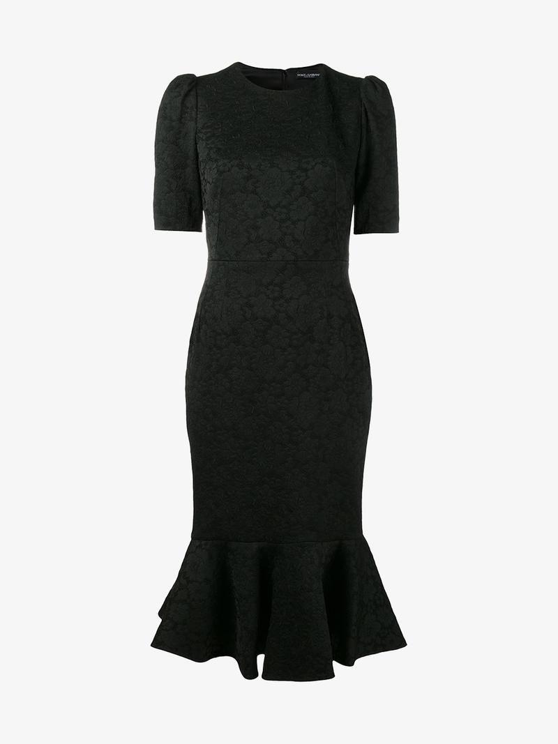 Dolce Gabbana Fishtail Midi Dress Dolcegabbana Cloth
