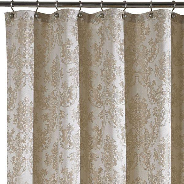 Queen Street Bianca Damask Shower Curtain Jcpenney Curtains
