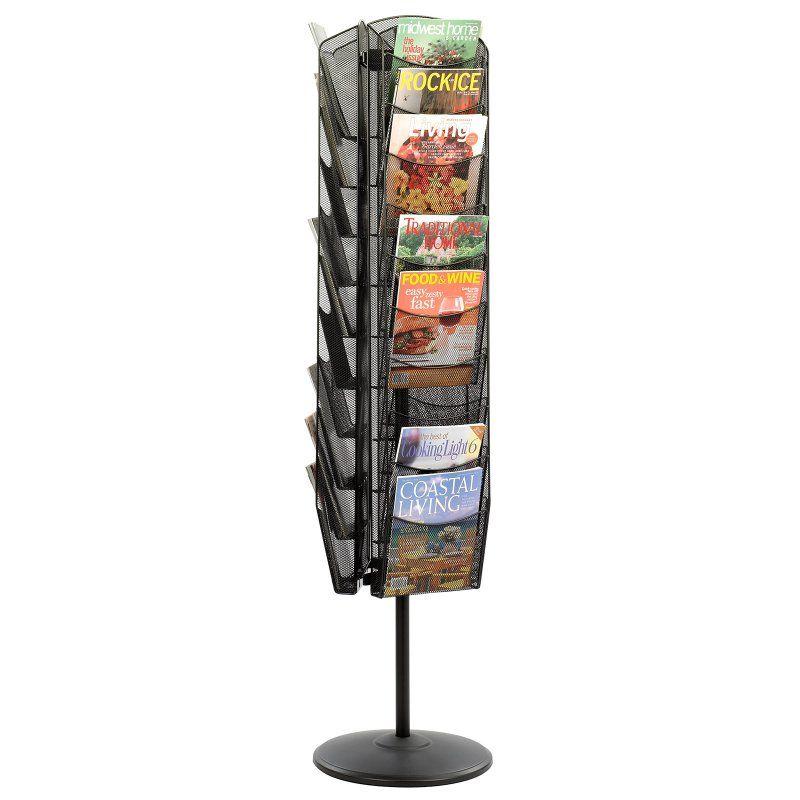 Safco Mesh Rotating 30 Pocket Magazine Stand - 5577BL