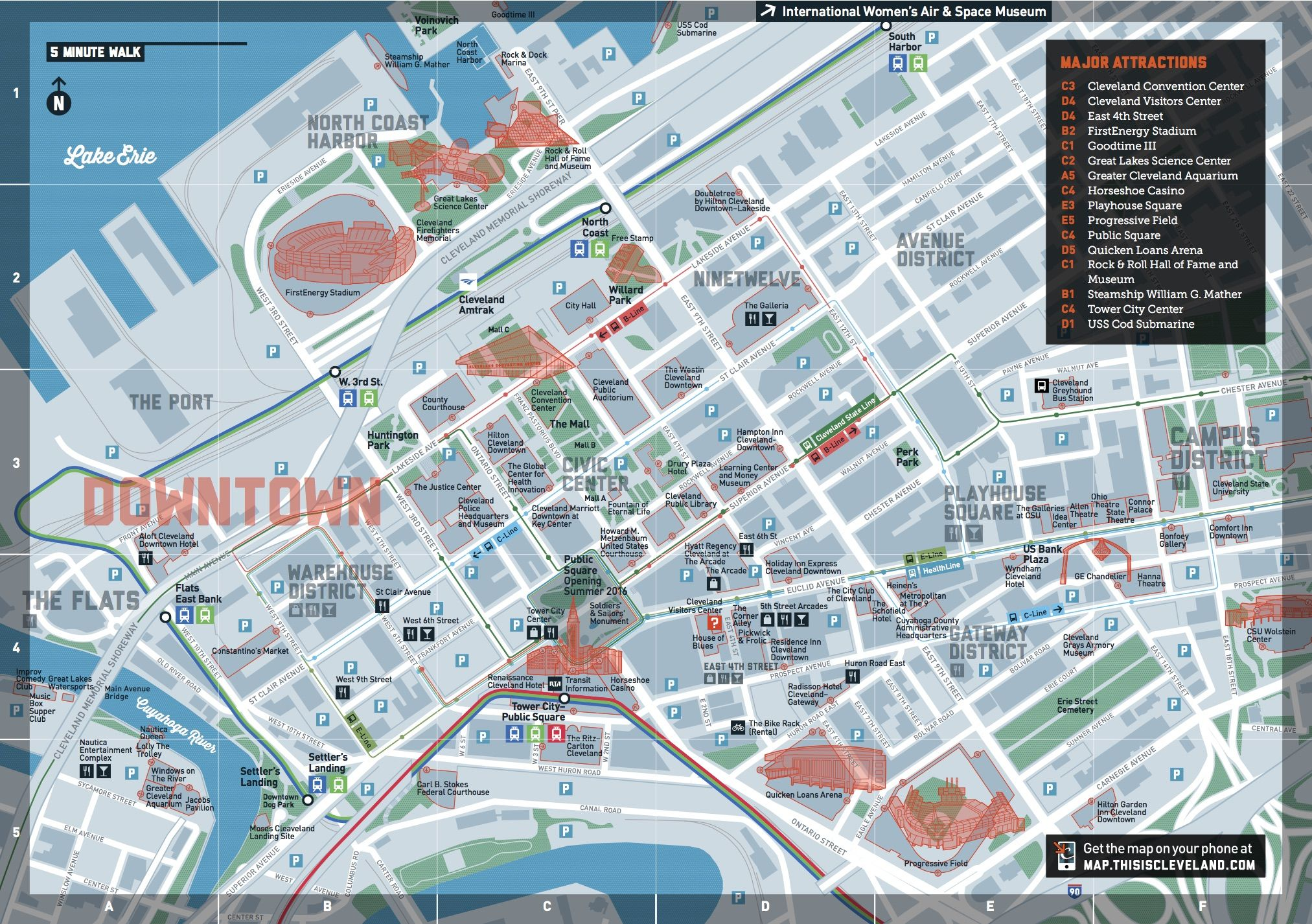 Map Of Downtown Cleveland Destination Cleveland // Downtown Map | MFA Thesis | Cleveland map