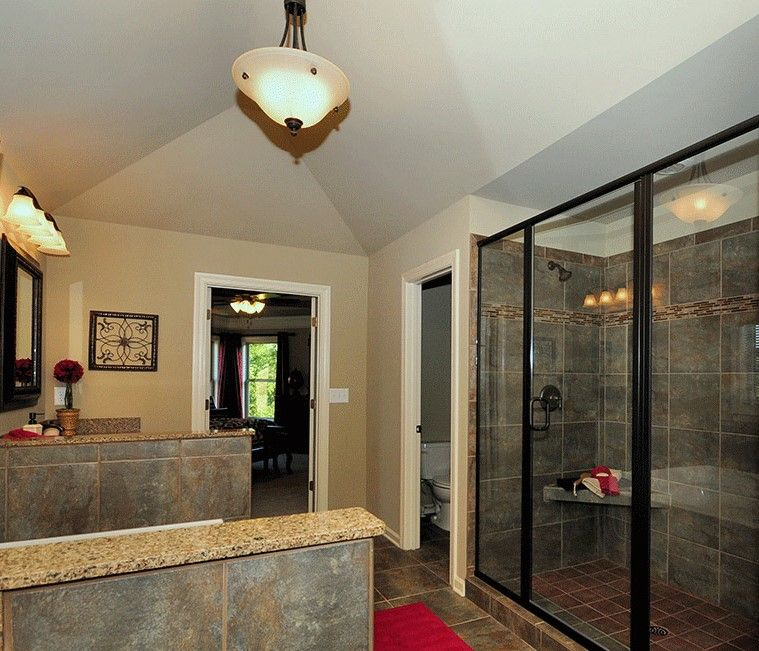 Tennessee livin' - Gorgeous master bathroom with slate ...