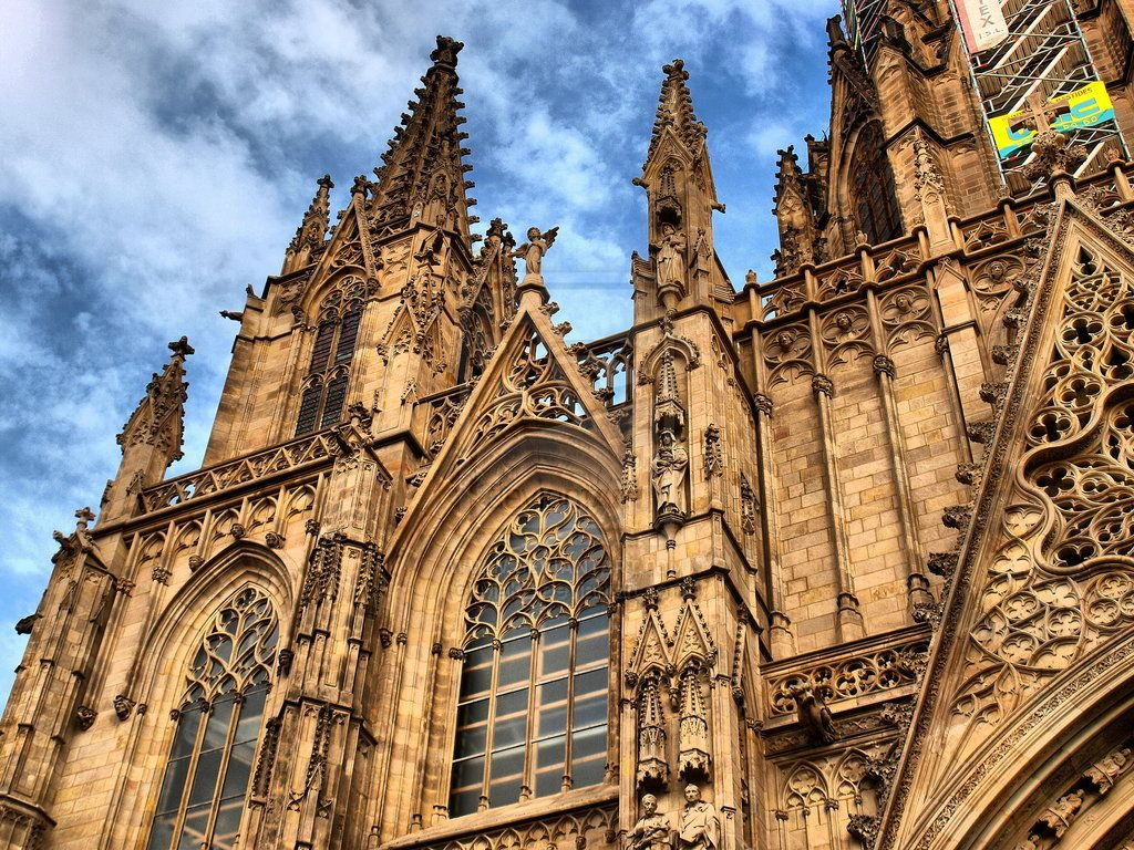 Cathedral Of Santa Eulalia By Makb On Deviantart Barcelona Monumentos Paisajes Catedral