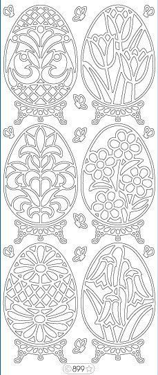 Искусство декорирования пасхальных яиц ... идеи и шаблоны ...