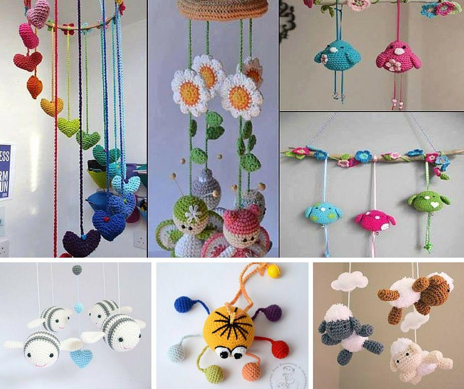 Móviles a Crochet | adornos y Amigurumis | Pinterest | Móvil ...