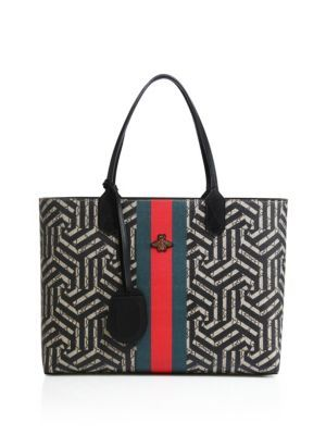 89c6baebd688a8 GUCCI Medium Zig Zag Leather Tote. #gucci #bags #leather #hand bags #tote #