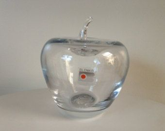 blenko glass apple | Popular items for vintage blenko