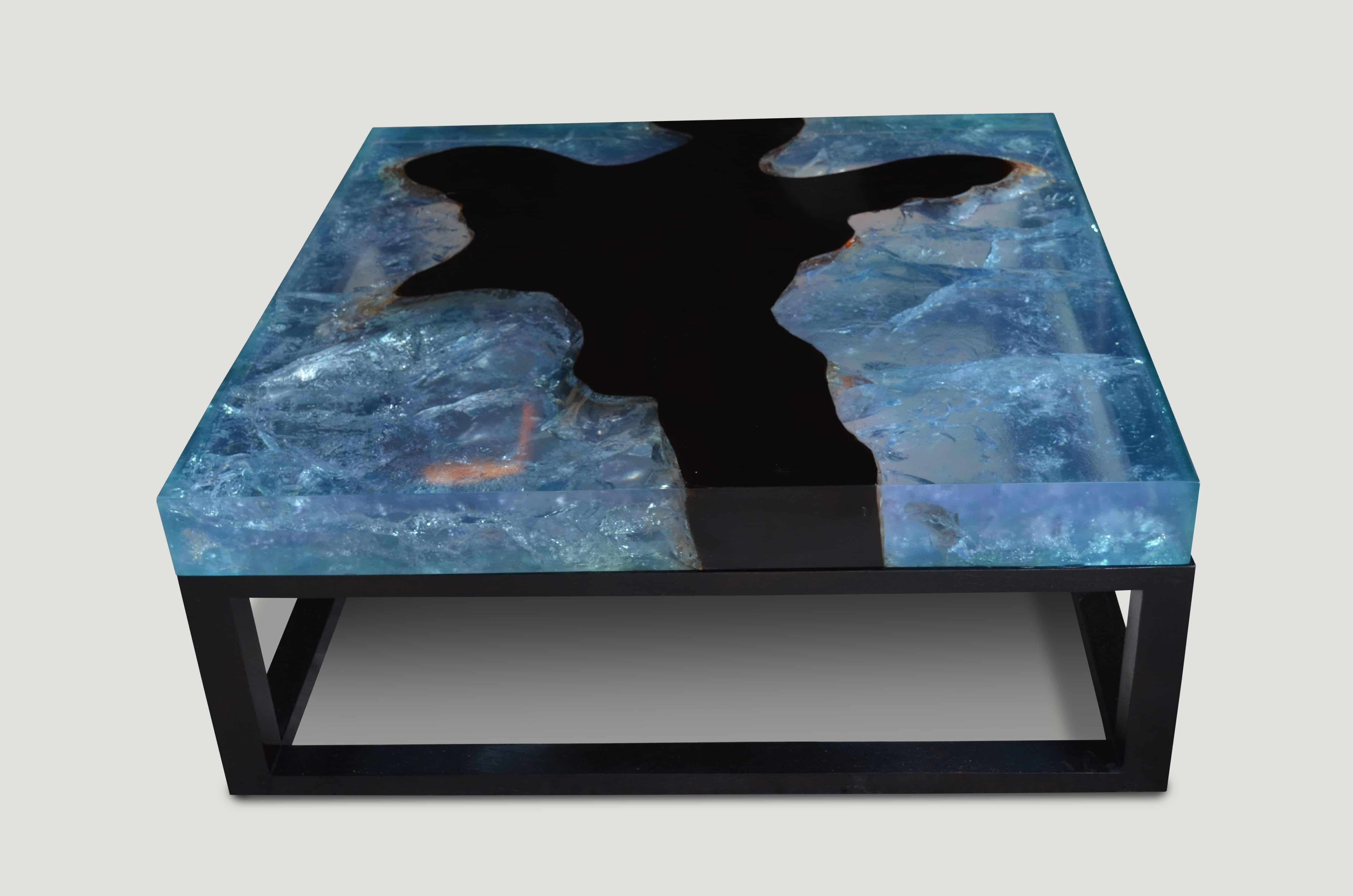 Blue Cracked Resin Coffee Table 9mr Andrianna Shamaris Coffee Table Resin Furniture Epoxy Wood Table [ 3264 x 4928 Pixel ]
