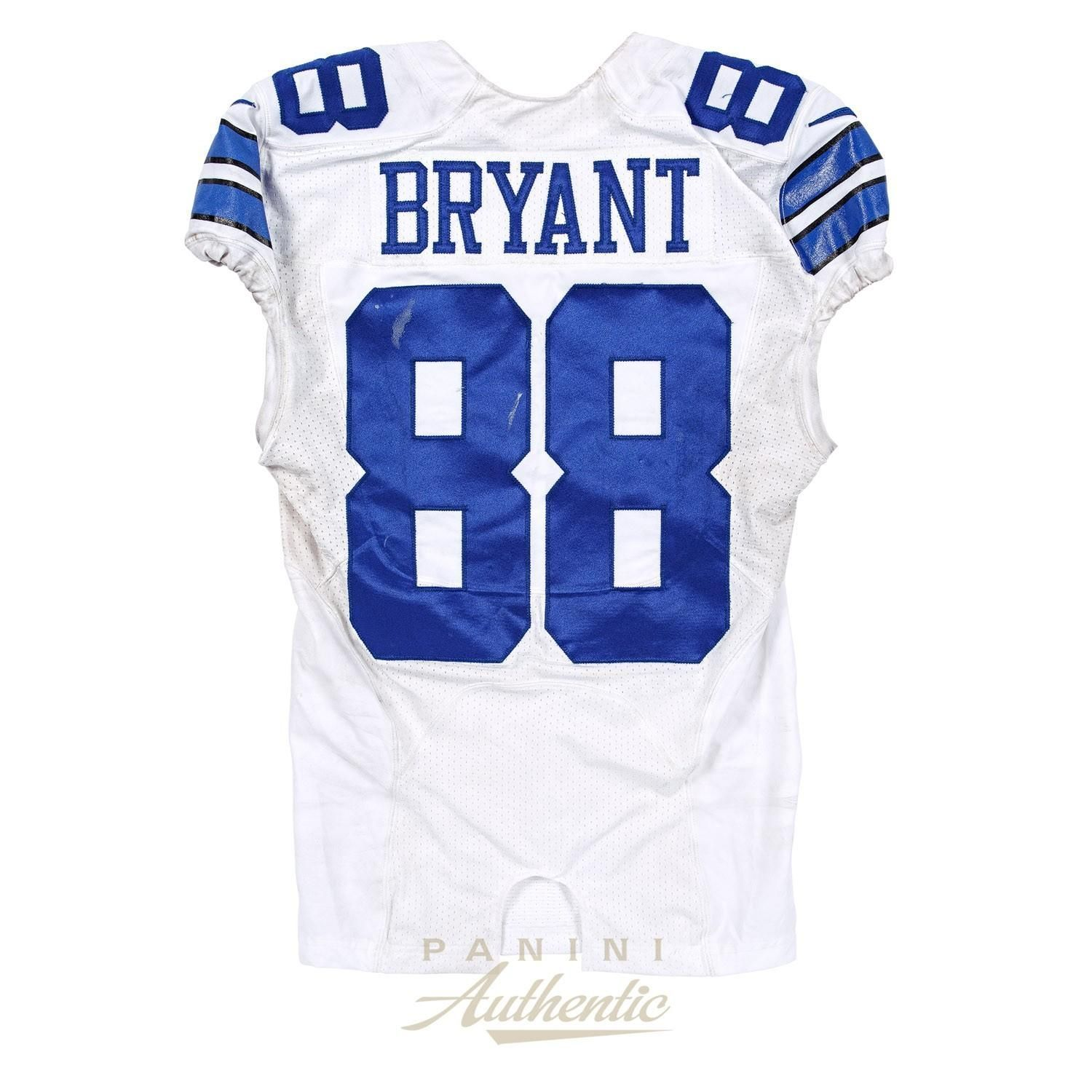 Dez Bryant Dallas Cowboys Game Worn Jersey - Purchase Link #dezbryantjersey ake home a piece of the Cowboys comeback win with this game worn Dez Bryant jersey. This Dez Bryant game worn jersey includes a Panini Authentic certificate of authenticity with a unique hologram number that corresponds to the hologram on the actual collectible. #dezbryant Dez Bryant Dallas Cowboys Game Worn Jersey - Purchase Link #dezbryantjersey ake home a piece of the Cowboys comeback win with this game worn Dez Bryan #dezbryant