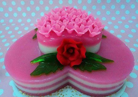 جدیدترین مدل تزیین ژله مجلسی مجله تصویر زندگی Desserts Persian Cuisine Cake
