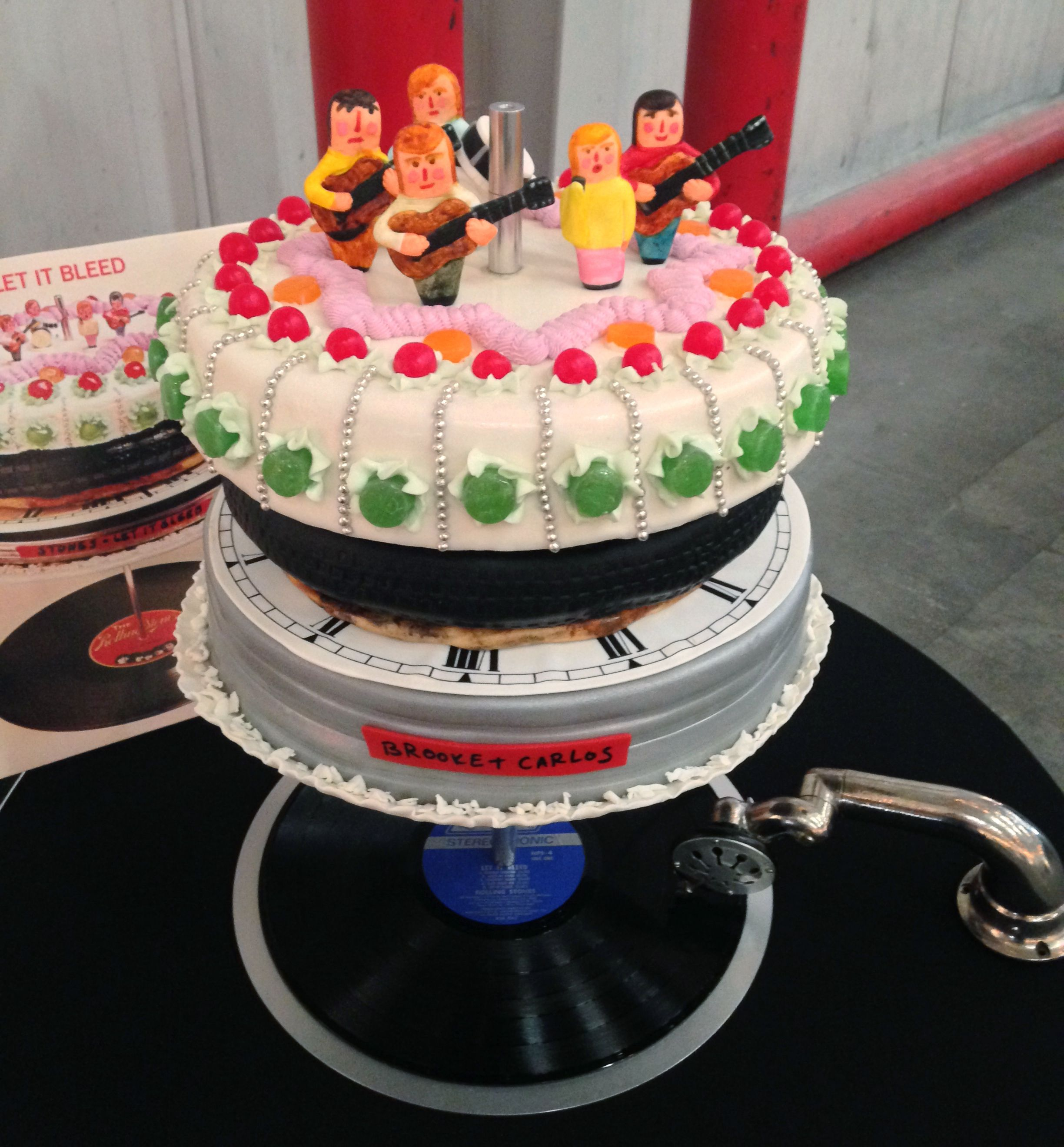 Groom's Cake To Replicate The Rolling Stones Album Cover