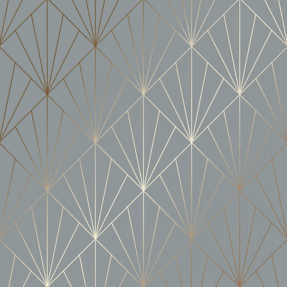 Betty Metallic Wallpaper Grey Copper Metallic Wallpaper Gold Geometric Wallpaper Latest Wallpaper Designs