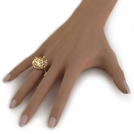 Floral Orb Ring. Closer Look