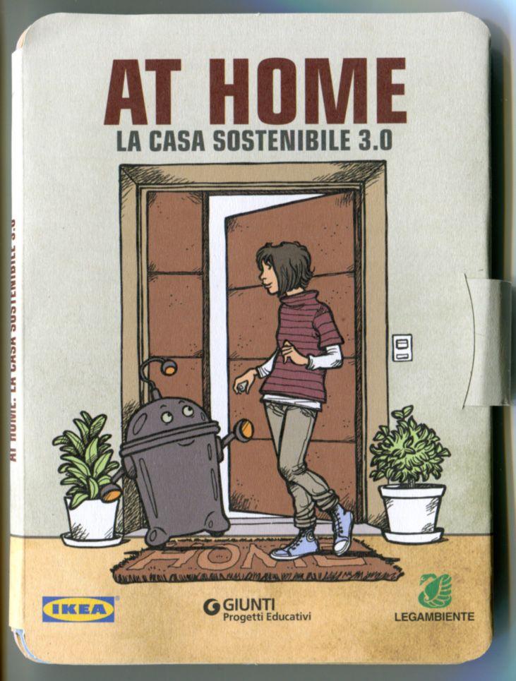 Copertina At home - la casa sostenibile 3.0 Giunti Progetti Educativi, 2012