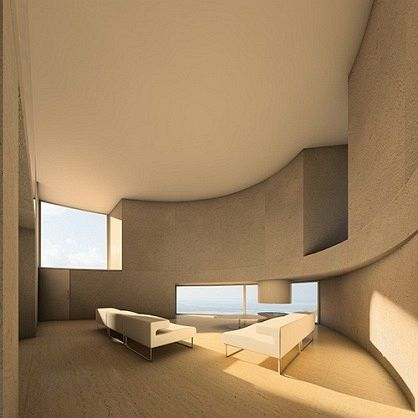 "Antonino Cardillo, architect extraordinaire - ""Ellipse 1501"" - House in the hills near Rome, Italy. 2007."