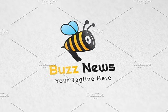 Buzz News - Logo Template | Logo templates, Template and Logos