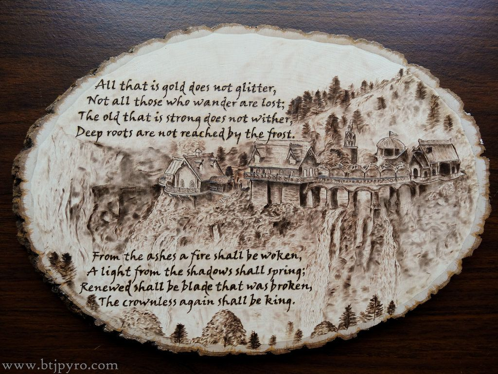 Lord Of The Rings Wood Burning 2 With Quote By Brandojones
