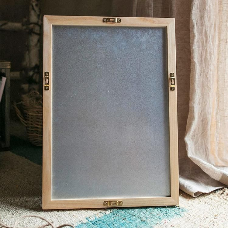 Green Magnetic Chalk Board With Solid Wood Frame Hanging Wall Decor Wood Frame Wood