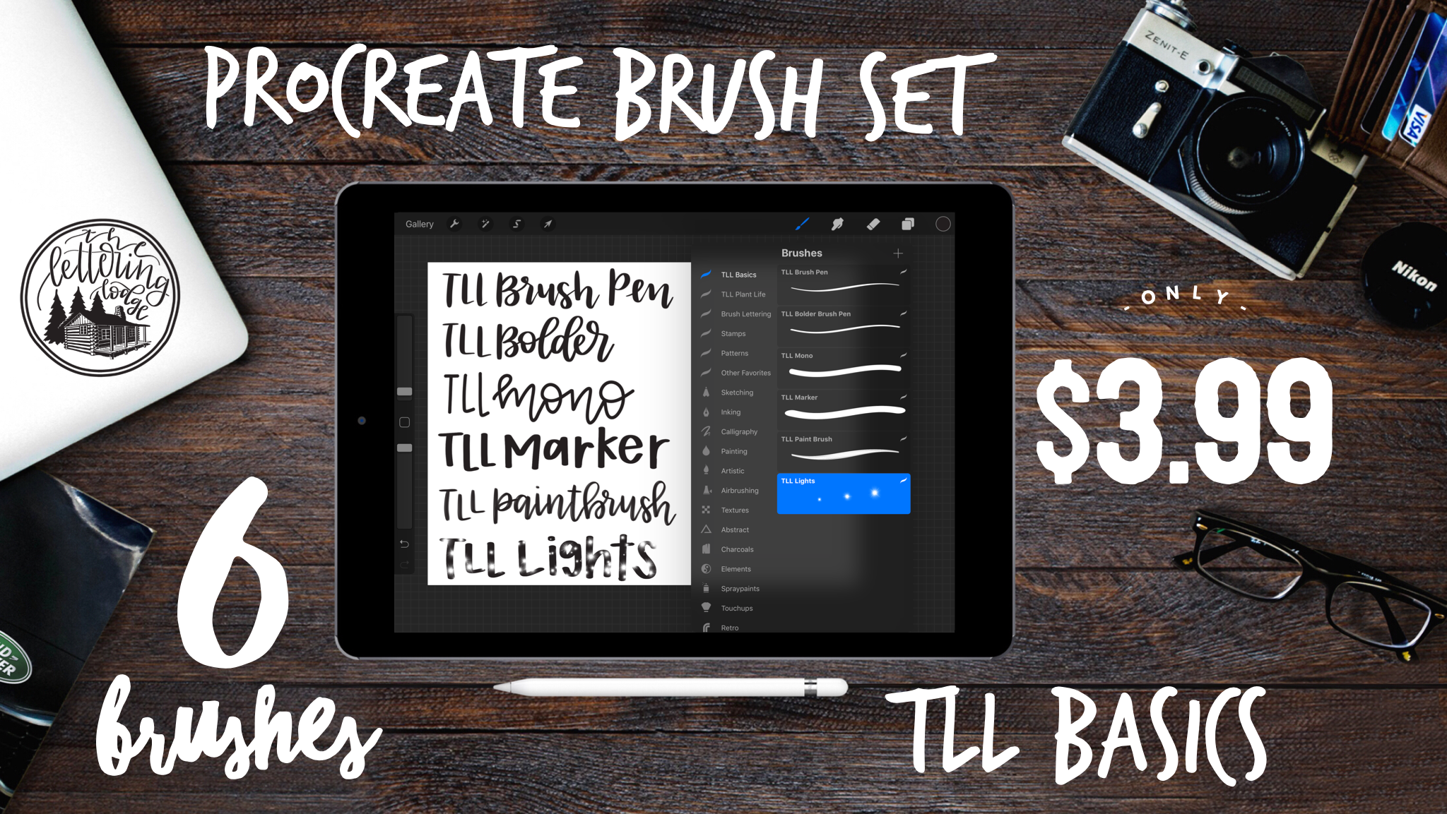 Download This Set Of Six Lettering Brushes For Procreate